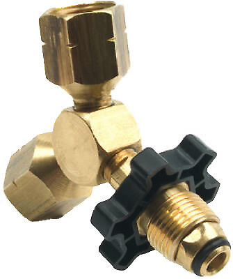 """MR HEATER CORP Propane """"Y"""" Female Cylinder Adapter With Handwheel F271735"""