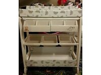 Portable Baby changer with bath