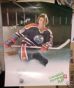 Wayne Gretzky EDMONTON OILERS Poster 1982 7-Up Kitchener / Waterloo Kitchener Area image 1