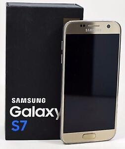 SAMSUNG S7  32GB GOLD BLACK UNLOCKED SMARTPHONE 30 DAYS WARRANTY
