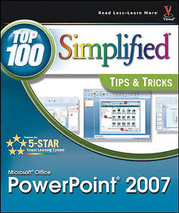 McFedries, Paul, Microsoft Office PowerPoint 2007 (Top 100 Simplified Tips & Tri