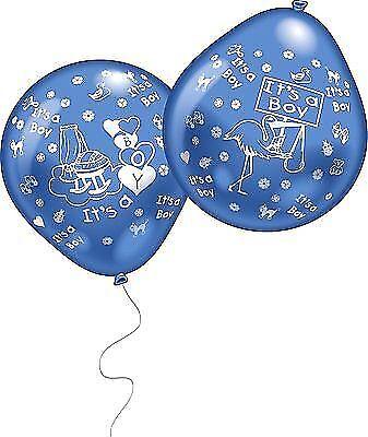 Luftballons IT'S A BOY zur Taufe oder Geburtsanzeige Dekoration 1. Geburtstag ()