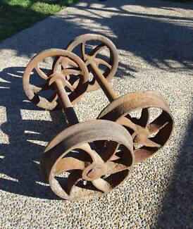 Antique / Vintage Railway Axle Set.