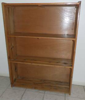 Solid Timber Pine Bookcase Used Forest Lake Brisbane South West Preview