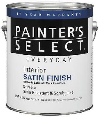 Painter's Select Gallon Neutral Base Interior Latex Satin Wall Paint - Pack of 2 Interior Satin Latex Wall Paint