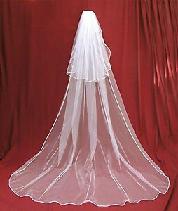 New White Cathedral Wedding Veil/Nouveau voile mariée cathedral