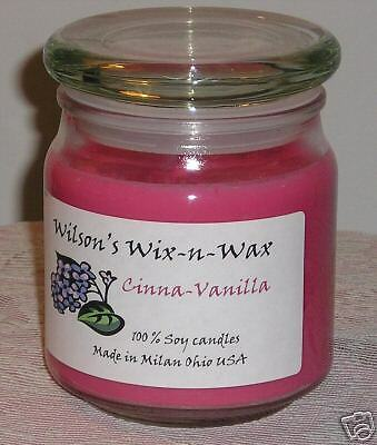 16 oz. Jar Soy Candle Custom scents - highly scented