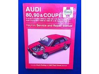 haynes service & repair manual for audi 80, 90 & coupe