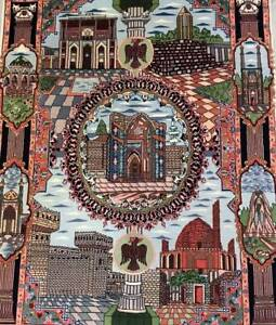 MASTERPIECE SILKINLAID PICTORIAL HAND MADE PERSIAN TABRIZ RUG Mosman Mosman Area Preview