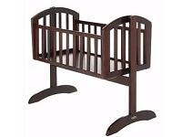 OBaby Swinging Crib and Mattress - Walnut