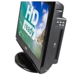 LOGIK DISCSLOT LCD TV WITH BUILT IN DVD PLAYER,