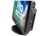AS NEW : FREE LOCAL DELIVERY LOGIK DISCSLOT 26 INCH LCD TV WITH BUILT IN DVD PLAYER