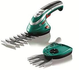 Bosch cordless hedge trimmer with charger & battery brand new.