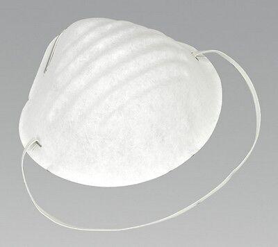 Sealey SSP15D Disposable Comfort Dust Cup Mask Pack Of 50 Tool Garage Workshop