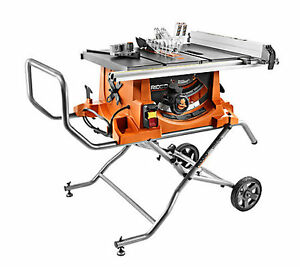 Brand new Ridgid 10-inch Portable Table Saw with Stand