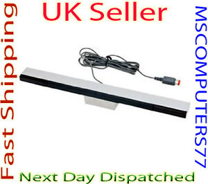 WIRED INFRARED RAY SENSOR BAR FOR NINTENDO Wii + STAND FREE POSTAGE IN UK