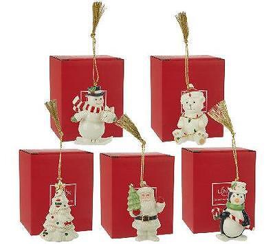 Lenox Porcelain Christmas Holiday Ornament 24K Accents Penguin Santa -