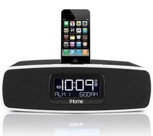IHome ip9 alarm clock speaker system with dock for ipod (Black)