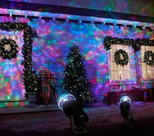 SWIRLING MOVING COLOURED  PROJECTION CHRISTMAS LIGHTS (NEW) London Ontario image 1