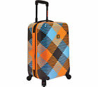 Polycarbonate Plaid Travel Luggage