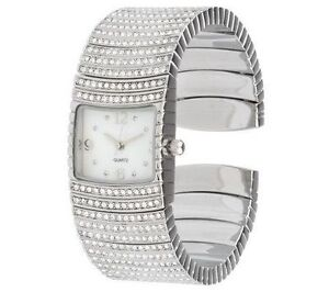 Joan Rivers Silvertone Red Carpet Crystal Glamour Watch New in Original Box  NIB