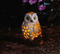 Solar owl hand painted New