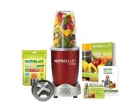 Nutribullet 600 plus extras cherry red boxed as new