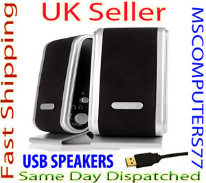USB PORTABLE COMPUTER LAPTOP SPEAKERS MULTIMEDIA DESKTOP PC SPEAKER