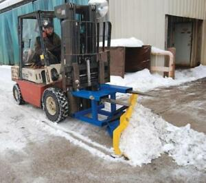 Forklift Mounted Snow Plow