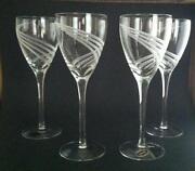 Lenox monroe crystal ebay - Lenox gold rimmed wine glasses ...