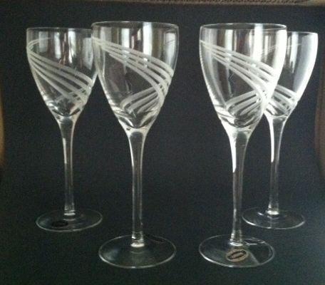 lenox crystal wine glasses