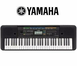 NEW YAMAHA PORTABLE KEYBOARD   61 KEY - WITH AUX LINE INPUT - BLACK - MUSIC - INSTRUMENT - PIANO 92558954