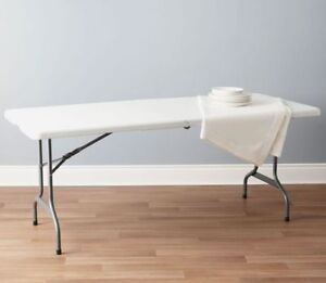 6 ft White Centerfolding Table