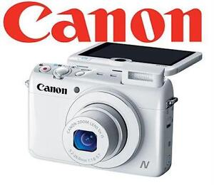 NEW CANON POWERSHOT 12.1MP CAMERA N100 HS 12.1MP Digital Camera - Wi-Fi Enabled (White) POINT SHOOT PHOTOGRAPHY PHOTES
