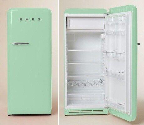 Smeg Fridge With Ice Box In Pastel Green