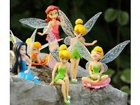6pcs Fairies fairy cake toppers decorations kids toys