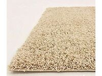 Thick Shaggy Rug Beige 290 x 200 cm- 9.5 x 6.6 FT