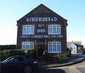 World Famous Alfred Reader Cricket Ball Factory