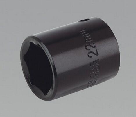 Sealey IS1222 Impact Socket 22mm 1/2 Sq Drive Square Drive Workshop Six Point