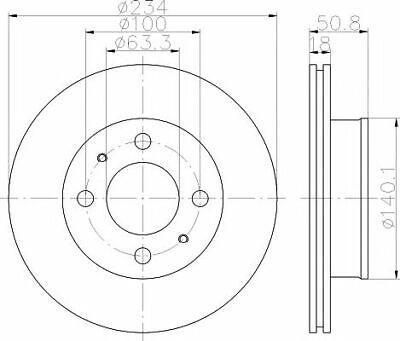 MINTEX Front BRAKE DISCS + PADS SET for HYUNDAI AMICA / ATOZ 1.1 LPG 2007->on