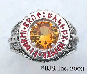 BADALI-Hobbit-Dwarven-Ring-Of-Power-Silver-Faux-Topaz-LOTR-Tolkien-IN-STOCK