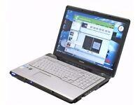 "Toshiba Laptop Equium 17"" P200 Intel Dual Core 2gb Ram 120GB HD DVDRW Windows 10 - 30Day Warranty"
