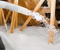 Blow in insulation Cellulose and Fiberglass  low rates