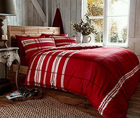 100% brushed cotton flannelette duvet set..king