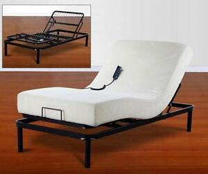 BRAND NEW ADJUSTABLE DUAL WHISPER MOTOR ELECTRIC BEDS
