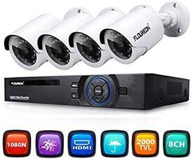 CCTV System 4x960p bullet cameras