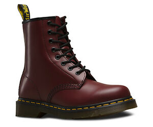 DR MARTENS 1460 CHERRY RED SMOOTH- Size 7.5