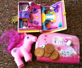 Girly toys £2 & Pencil case with 4 purses £2