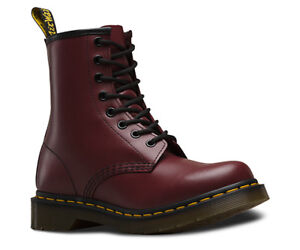 Dr. Martens Womens 1460 8-Eye Cherry Smooth Leather Boots (Sz 7)