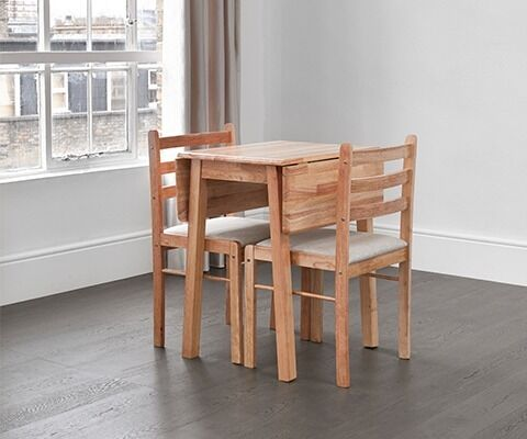Solid Wood Extending/folding Dining Table For 2 4 People